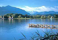 Urlaub Reisen  Deutschland Bayern Seebruck am Chiemsee Hotel Post