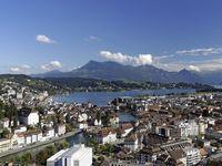 Urlaub Reisen  Schweiz Luzern Luzern (Vierwaldstättersee)