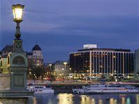 Urlaub Reisen  Ungarn Mittelungarn Budapest (Städtereise) Hotel Sofitel Budapest Chain Bridge